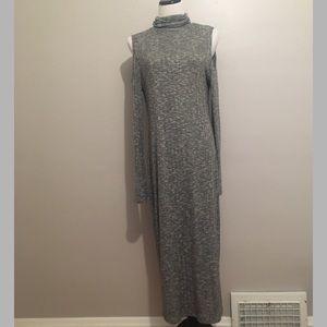 Grey cold shoulder sweater dress NWOT 1x